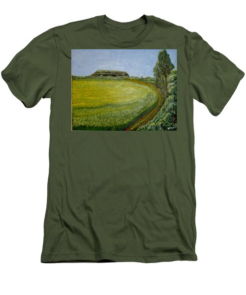 Summer In Canola Field Men's T-Shirt (Athletic Fit)