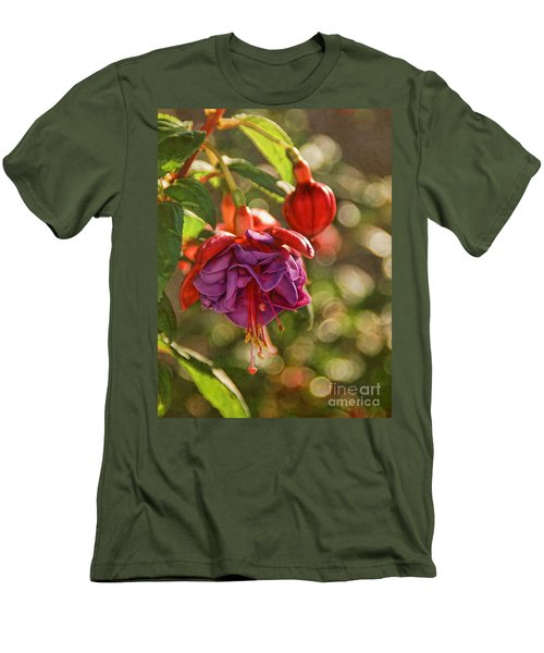 Men's T-Shirt (Slim Fit) featuring the photograph Summer Jewels by Peggy Hughes