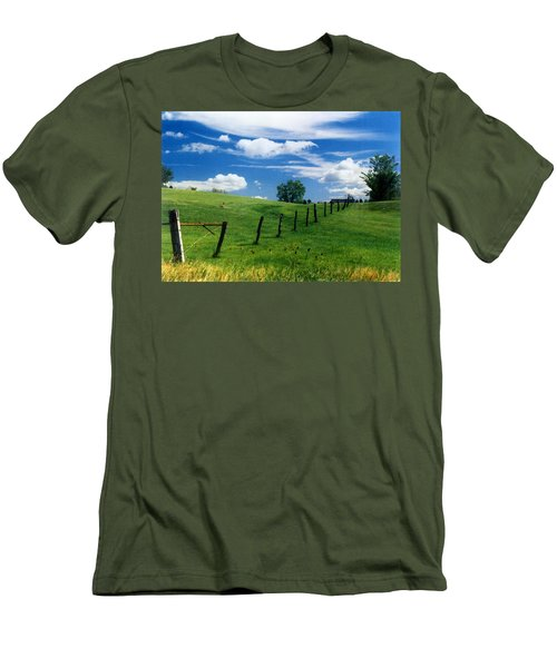 Summer Landscape Men's T-Shirt (Slim Fit)