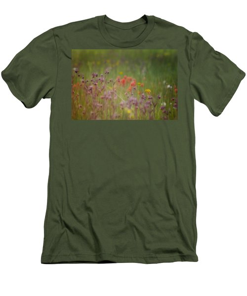 Men's T-Shirt (Slim Fit) featuring the photograph Summer Meadow by Ellen Heaverlo