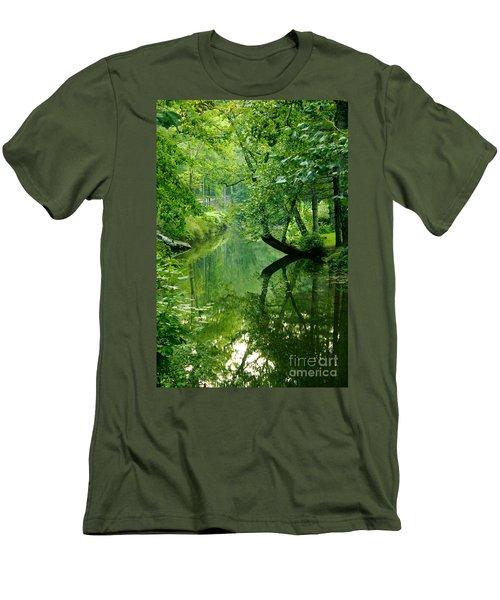 Summer Stream Men's T-Shirt (Slim Fit) by Melissa Petrey