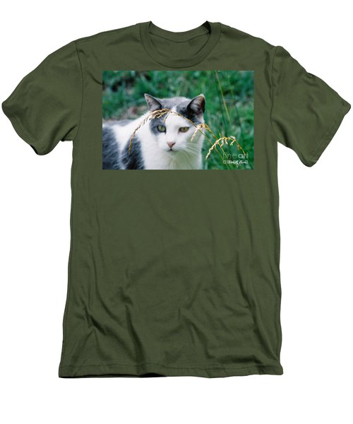 Men's T-Shirt (Slim Fit) featuring the photograph Summer Stroll by Donna Brown