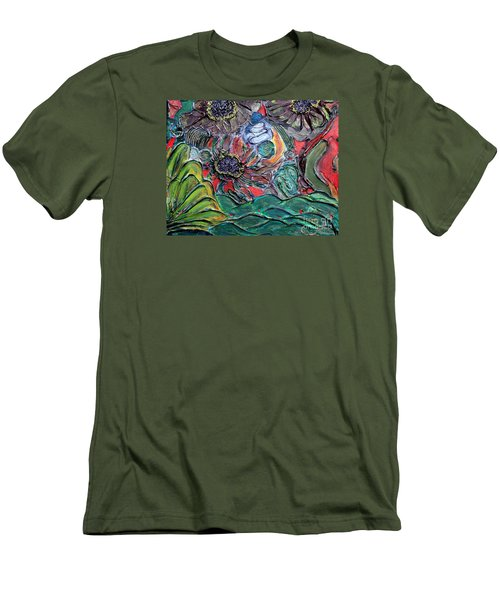Summertime Bliss.. Men's T-Shirt (Slim Fit) by Jolanta Anna Karolska