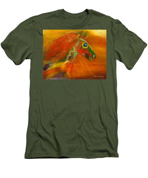 Men's T-Shirt (Slim Fit) featuring the painting Sun Dance by Barbie Batson
