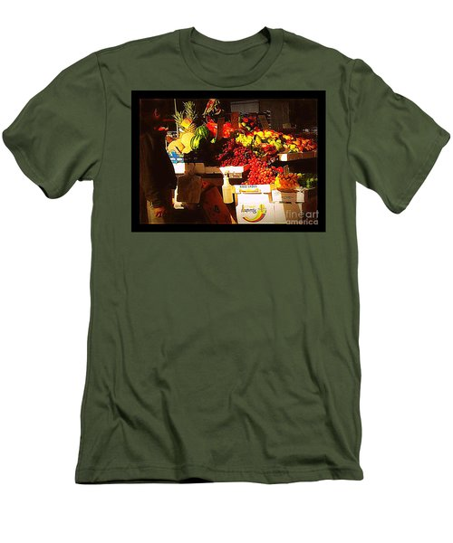 Men's T-Shirt (Slim Fit) featuring the photograph Sun On Fruit by Miriam Danar