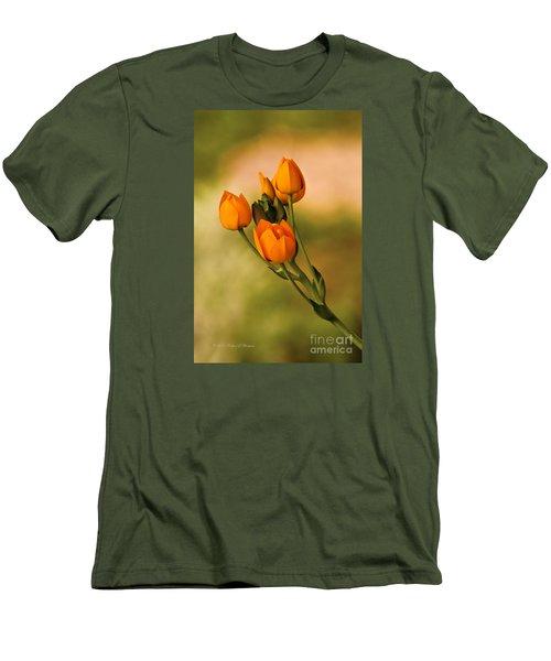 Sun Star Flower Men's T-Shirt (Athletic Fit)