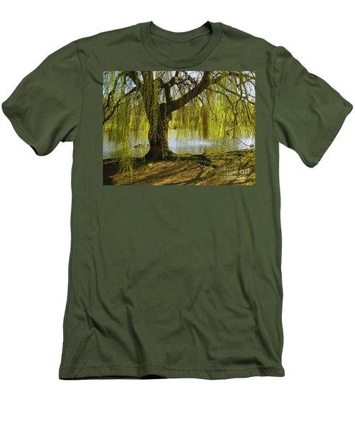 Sunday In The Park Men's T-Shirt (Slim Fit) by Madeline Ellis