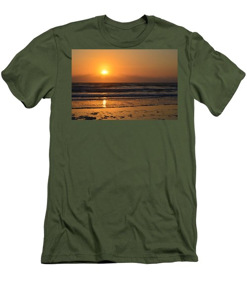 Men's T-Shirt (Slim Fit) featuring the photograph Sundays Golden Sunrise by DigiArt Diaries by Vicky B Fuller
