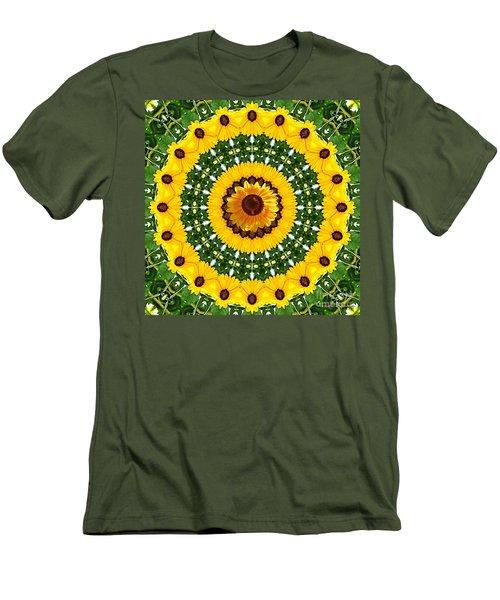 Sunflower Centerpiece Men's T-Shirt (Athletic Fit)