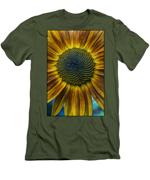 Sunflower In Rain Men's T-Shirt (Athletic Fit)