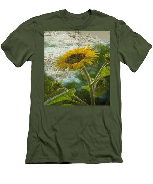 Sunflower Mountain Men's T-Shirt (Athletic Fit)