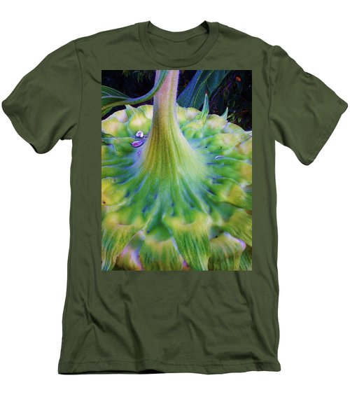 Men's T-Shirt (Slim Fit) featuring the photograph Sunflower...moonside 1 by Daniel Thompson