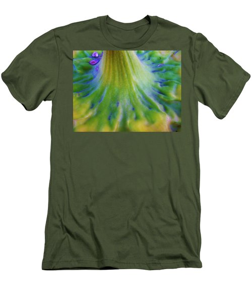 Men's T-Shirt (Slim Fit) featuring the photograph Sunflower...moonside 2 by Daniel Thompson