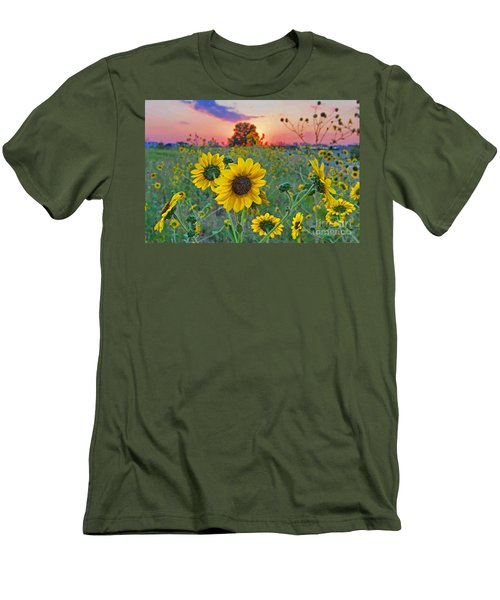 Sunflowers Sunset Men's T-Shirt (Athletic Fit)