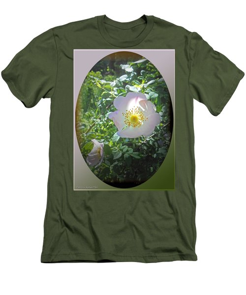Sunlight On The Wild Pink Rose Men's T-Shirt (Athletic Fit)
