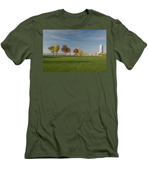 Sunny Autumn Day Men's T-Shirt (Slim Fit) by Jonah  Anderson