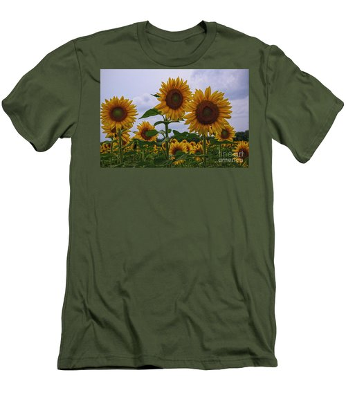 Men's T-Shirt (Slim Fit) featuring the photograph Sunny Faces by Debra Fedchin