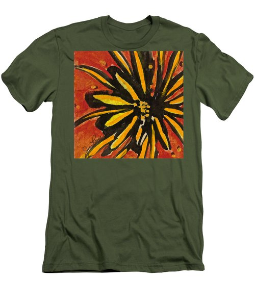 Men's T-Shirt (Slim Fit) featuring the painting Sunny Hues Watercolor by Joan Reese