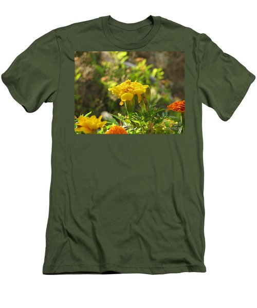 Sunny Marigold Men's T-Shirt (Athletic Fit)