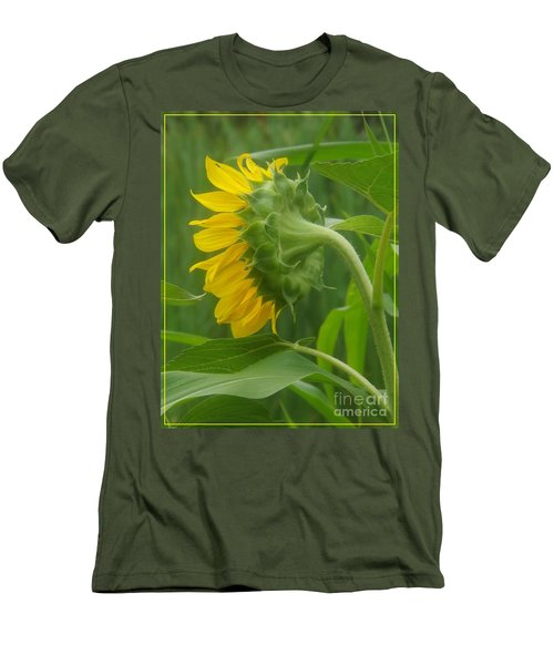 Sunny Profile Men's T-Shirt (Slim Fit) by Sara  Raber