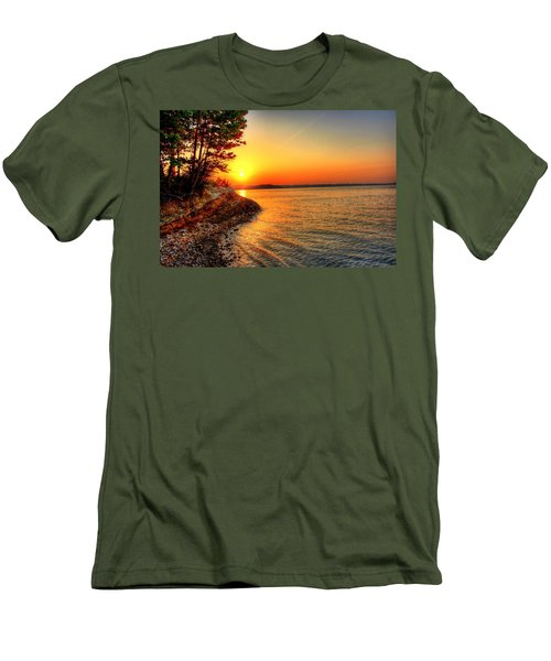Sunrise Around The Bend Men's T-Shirt (Athletic Fit)