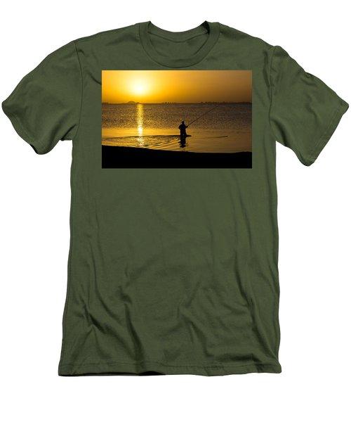 Sunrise Fishing Men's T-Shirt (Athletic Fit)