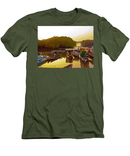 Sunrise Over Gambian Creek Men's T-Shirt (Athletic Fit)