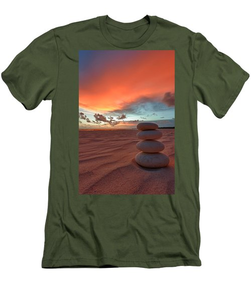 Men's T-Shirt (Athletic Fit) featuring the photograph Sunrise Zen by Sebastian Musial