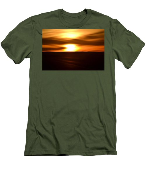 Sunset Abstract II Men's T-Shirt (Athletic Fit)