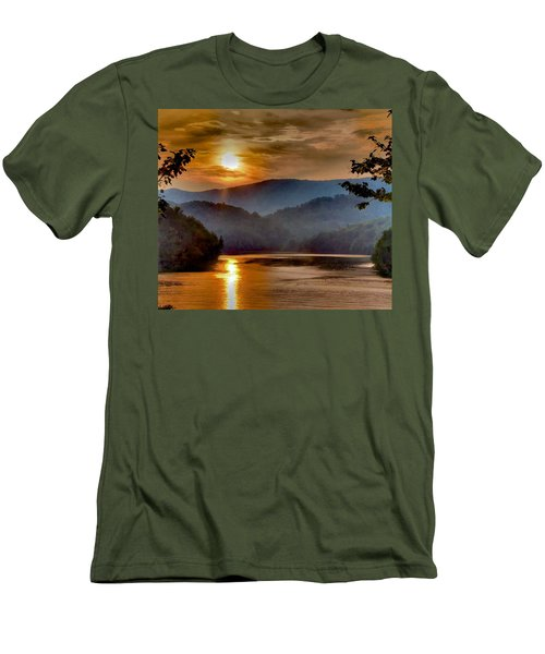 Sunset And Haze Men's T-Shirt (Slim Fit) by Tom Culver