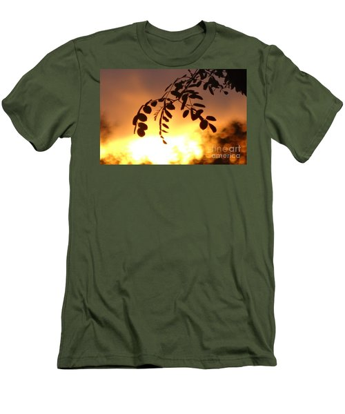 Men's T-Shirt (Slim Fit) featuring the photograph Sunset And Leaves by Justin Moore