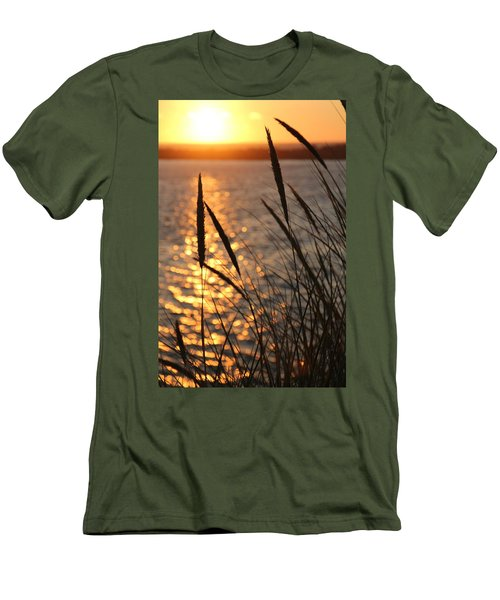 Men's T-Shirt (Slim Fit) featuring the photograph Sunset Beach by Athena Mckinzie