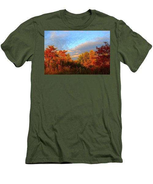 Men's T-Shirt (Slim Fit) featuring the photograph Sunset Glow by Kathryn Meyer