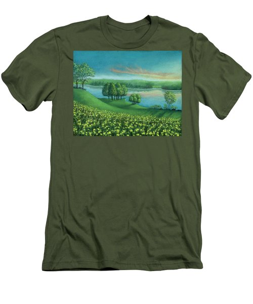 Sunset Lake A Men's T-Shirt (Athletic Fit)