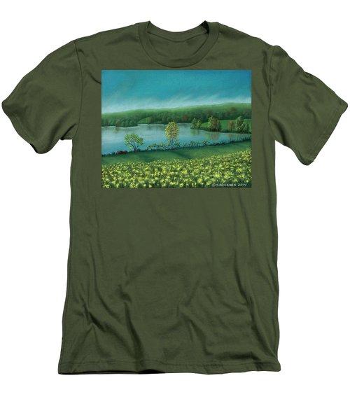 Sunset Lake C Men's T-Shirt (Athletic Fit)
