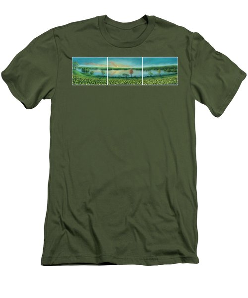 Sunset Lake Triptych Men's T-Shirt (Athletic Fit)