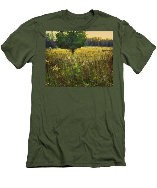 Men's T-Shirt (Slim Fit) featuring the photograph Sunset Meadow by John Hansen