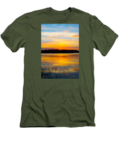 Sunset Over The Lake Men's T-Shirt (Slim Fit) by Parker Cunningham