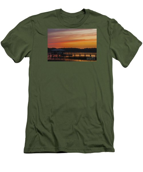 Men's T-Shirt (Slim Fit) featuring the photograph Sunset Over The Wando River by Dale Powell