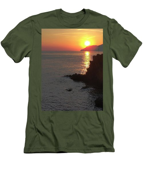 Men's T-Shirt (Slim Fit) featuring the photograph Sunset Reflection by Natalie Ortiz