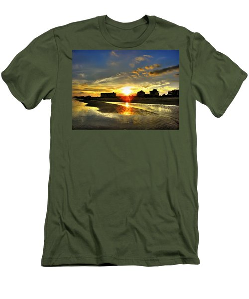 Men's T-Shirt (Slim Fit) featuring the photograph Sunset by Savannah Gibbs