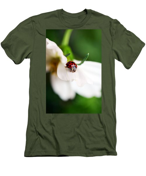 Sunshine And Petal Rest Men's T-Shirt (Slim Fit) by Lori Tambakis