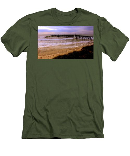 Surf City Pier Men's T-Shirt (Athletic Fit)