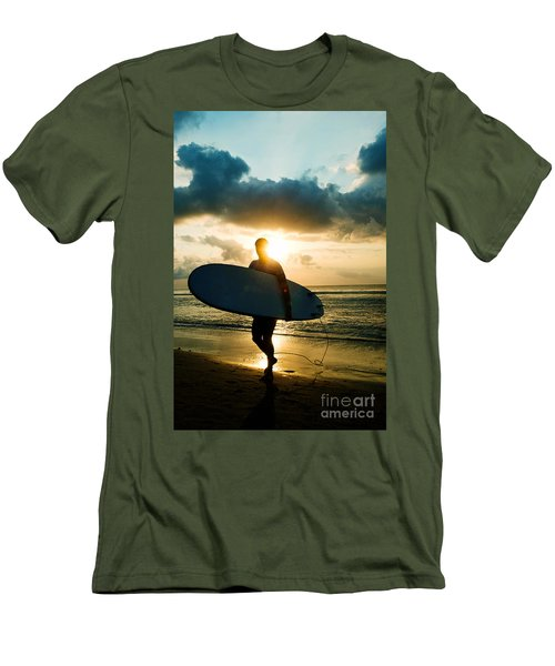 Surfer Men's T-Shirt (Slim Fit) by Yew Kwang