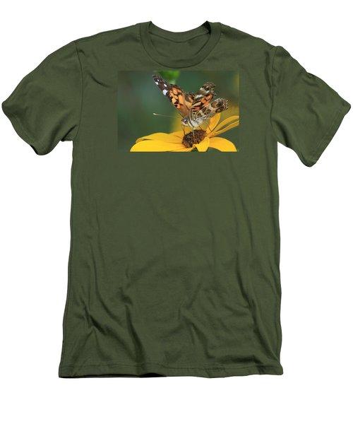 Susan Painted Lady Men's T-Shirt (Slim Fit) by Reid Callaway