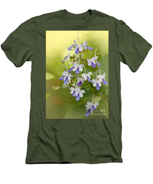 Sweet Butterfly Flowers Men's T-Shirt (Athletic Fit)