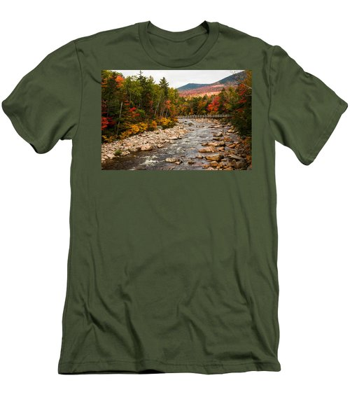 Swift River Painted With Autumns Paint Brush Men's T-Shirt (Athletic Fit)