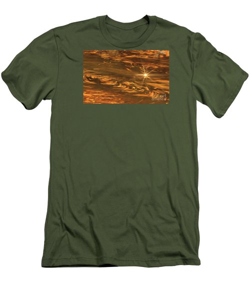 Men's T-Shirt (Slim Fit) featuring the photograph Swirling Autumn Leaves by Geraldine DeBoer