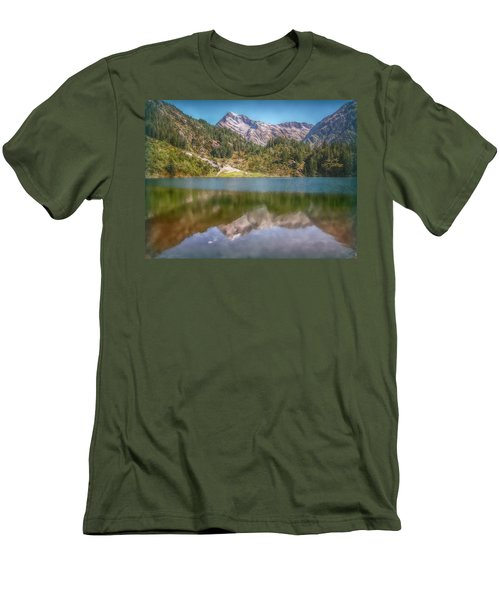 Swiss Tarn Men's T-Shirt (Slim Fit) by Hanny Heim