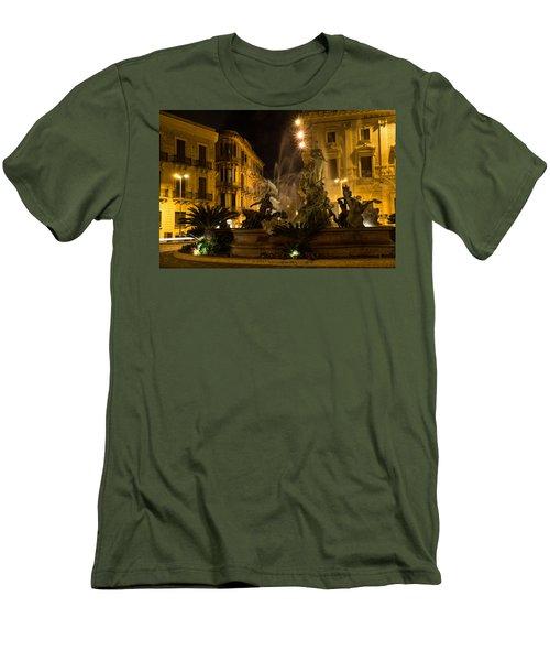 Men's T-Shirt (Slim Fit) featuring the photograph Syracuse - Diana Fountain  by Georgia Mizuleva